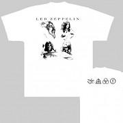 Led Zeppelin - triko bílé