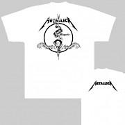 Metallica - triko bílé