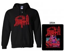 Death - mikina s kapucí a zipem