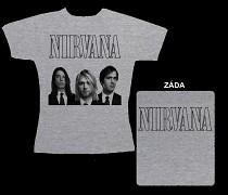 Nirvana - dámské triko šedé