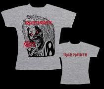 Iron Maiden - dámské triko šedé