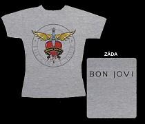 Bon Jovi - dámské triko šedé