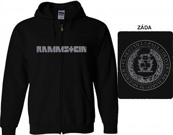 Rammstein - mikina s kapucí a zipem