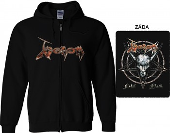 Venom - mikina s kapucí a zipem