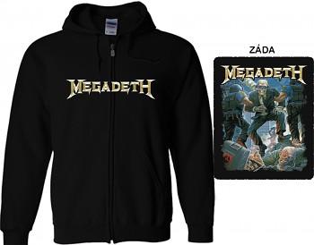 Megadeth - mikina s kapucí a zipem