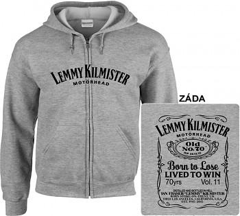 Motörhead - mikina s kapucí a zipem šedá