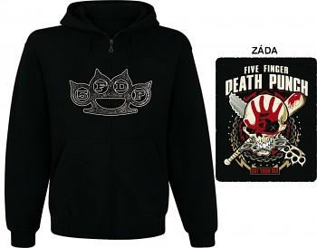 Five Finger Death Punch - mikina s kapucí a zipem
