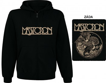 Mastodon - mikina s kapucí a zipem