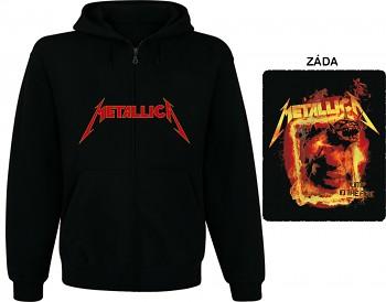 Metallica - mikina s kapucí a zipem